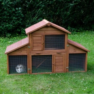 Outdoor Rabbit Hutch Castle With Run