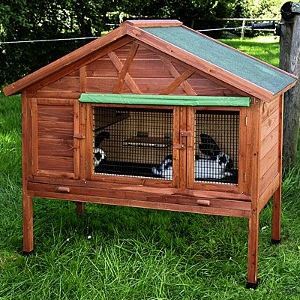 Outdoor Rabbit Hutch Kerbl 4 Seasons Heat Insulating