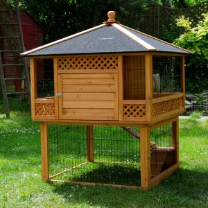 Large Outdoor Rabbit Hutch Pagoda