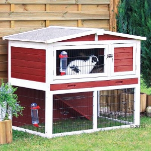 Rabbit Hutch Trixie Natura Red and White